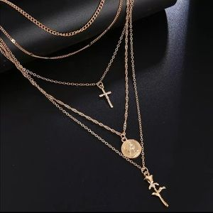 Fashion Multi-Layered Cross Necklaces For Women